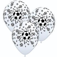 Шары латекс Мяч футбольный белый