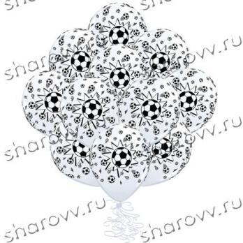 """Шары латекс """"Мяч футбольный белый"""""""