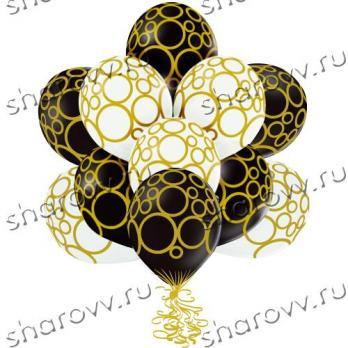 Шары латекс Золотые круги