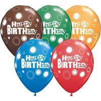 Шары латекс С днем рождения, круги