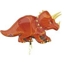 Шар фигура фольга Динозавр Трицератопс