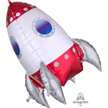 Шар фигура фольга Ракета