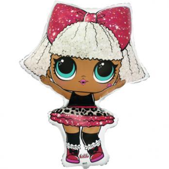 Шар фигура фольга Куклы ЛОЛ DIVA