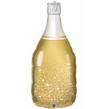 """Шар фигура фольга """"Бутылка шампанского золотая"""""""