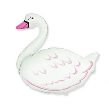 Шар фигура фольга Лебедь