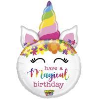 Шар фигура фольга HAVE MAGICAL BIRTHDAY Единорог