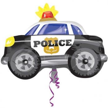 Шар фигура фольга Машина Полиция