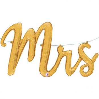"""Шар буквы фольга """"MRS золотая"""""""