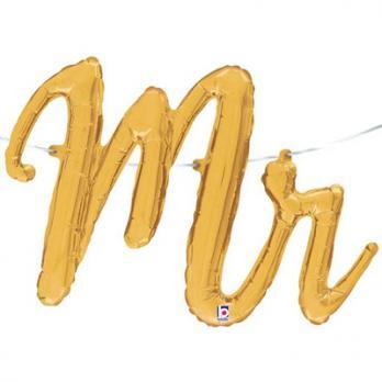 "Шар буквы фольга ""MR золотая"""