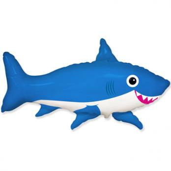 Шар фигура фольга Акула веселая