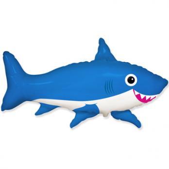 "Шар фигура фольга ""Акула веселая"""
