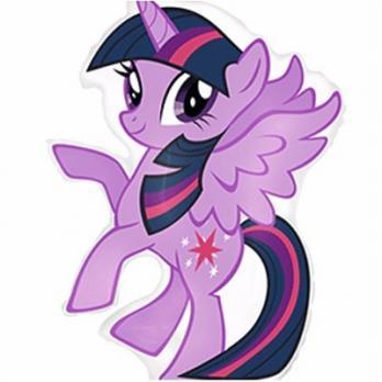 """Шар фигура фольга """"Пони фиолетовый"""""""
