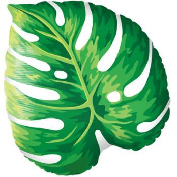 Шар фигура фольга Лист тропический