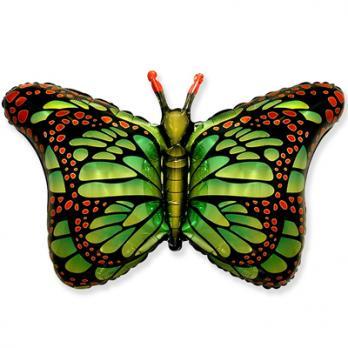 Шар фигура фольга Бабочка крылья зеленые