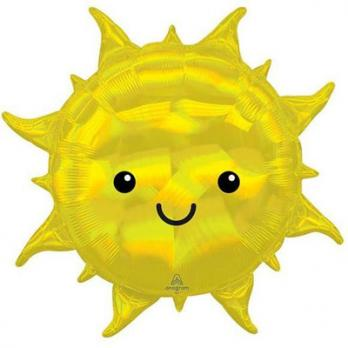 Шар фигура фольга Солнце переливы перламутр