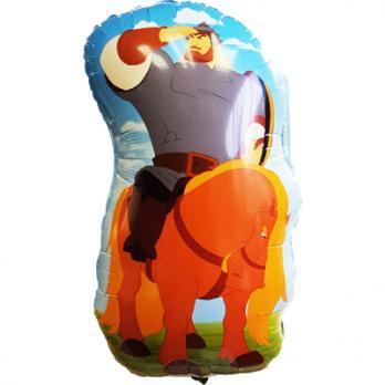 Шар фигура фольга Три Богатыря Илья на коне