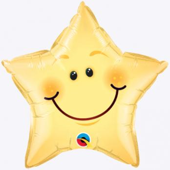 Шар фольга Звезда улыбающаяся