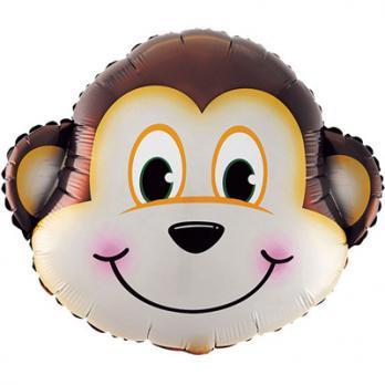 Шар фигура фольга Мартышка голова большая