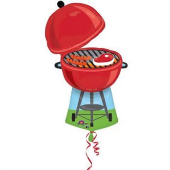 Шар фигура фольга Гриль-барбекю красный