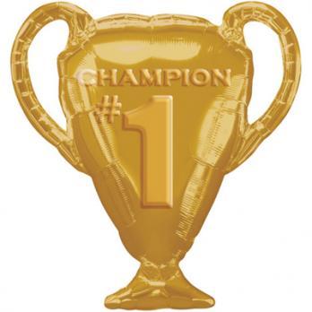 Шар фигура фольга Кубок чемпиона золотой