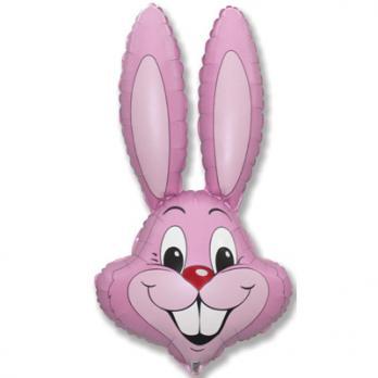 Шар фигура фольга Кролик розовый
