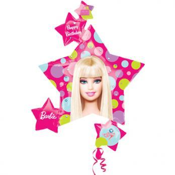 Шар фигура фольга Барби Звезды