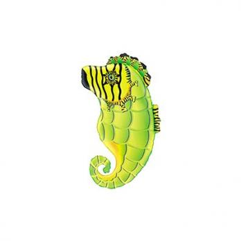 Шар фигура фольга Конек морской салатовый