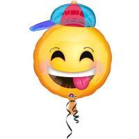Шар фигура фольга Улыбка Мальчик в кепке