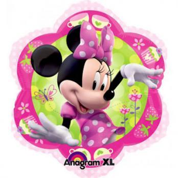 Шар фигура фольга Минни Маус Цветок