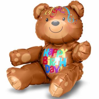 Шар фигура фольга HB Медвежонок сидячий