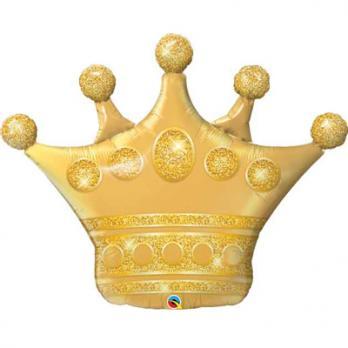 Шар фигура фольга Корона золото