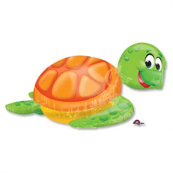 Шар фигура фольга Глупая морская черепаха