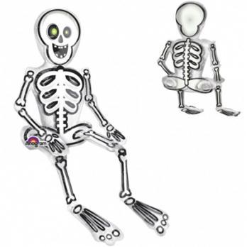 Шар фигура фольга Скелет сидячий