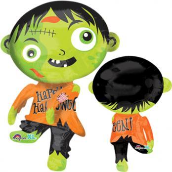 Шар фигура фольга Зомби зеленый