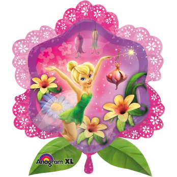 Шар фигура фольга Фея в цветах