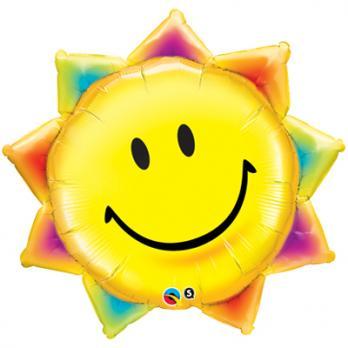 Шар фигура фольга Улыбка солнце