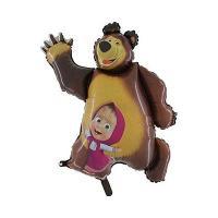 Шар фигура фольга Маша и Медведь