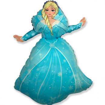 Шар фигура фольга Ледяная принцесса