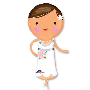 """Шар фигура фольга """"Красавица невеста"""""""