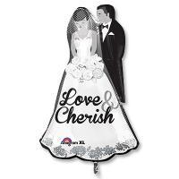Шар фигура фольга Жених и невеста