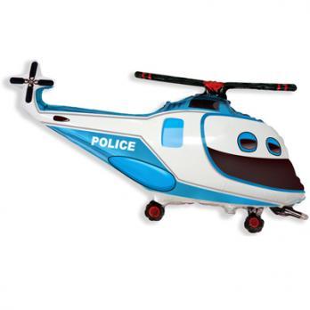 """Шар фигура фольга """"Вертолет Полиция"""""""