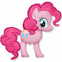 Шар фигура фольга Пони розовый
