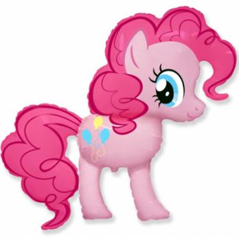 """Шар фигура фольга """"Пони розовый"""""""