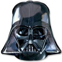 Шар фигура фольга Звездные Войны Шлем Вейдера