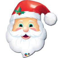 Шар фигура фольга Санта голова