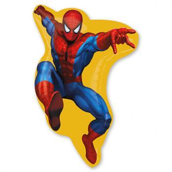 """Шар фигура фольга """"Человек паук в желтом"""""""