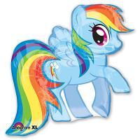 Шар фигура фольга My Little Pony радужная