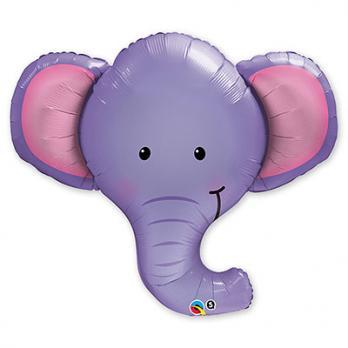 "Шар фигура фольга ""Слоненок голова"""