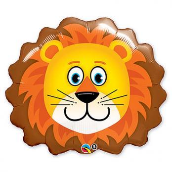 Шар фигура фольга Львенок голова