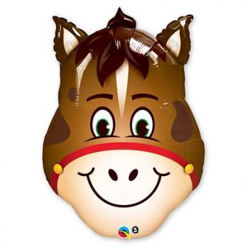 Шар фигура фольга Лошадь голова
